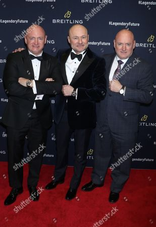 Mark Kelly, Georges Kern, Breitling CEO and Scott Kelly