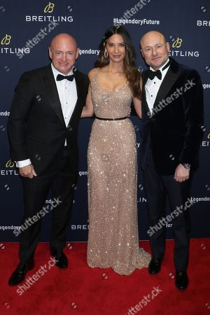 Mark Kelly, Olivia Munn, Georges Kern, Breitling CEO