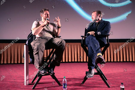 """Stock Picture of Director Duncan Jones and Rain Johnson at Netflix Films """"MUTE"""" Special Screening on February 22 at The Grove, Los Angeles, CA"""