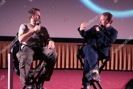 """Stock Photo of Director Duncan Jones and Rain Johnson at Netflix Films """"MUTE"""" Special Screening on February 22 at The Grove, Los Angeles, CA"""