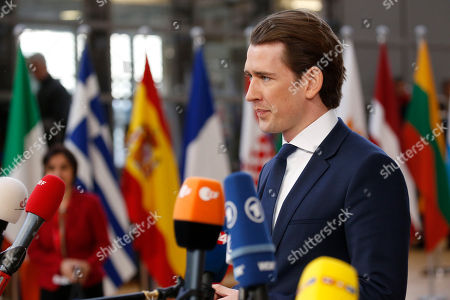 Austria's Federal Chancellor Christian Kern arrives for the Informal meeting of the 27 European Heads of States of Governments in Brussels, Belgium, 23 February 2018. The 27 European Heads of States of Governments will discuss on the new composition of the European Parliament after the so-called 'Brexit' and a post-2020 EU budget for several years.