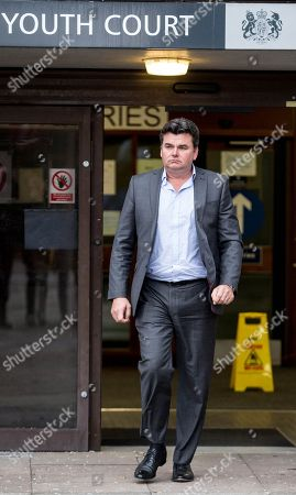 Fomer BHS owner, Dominic Chappell, leaves Barkingside Magistrates Court after sentencing.He wasd ordered to pay £87,000.  He bought BHS for £1 and failed to hand over information to The Pensions Regulator (TPR) relating to the retailer's Pension Scheme before the company collapsed. In his defence, he argued that he could not gain access to the details of the company's finances.
