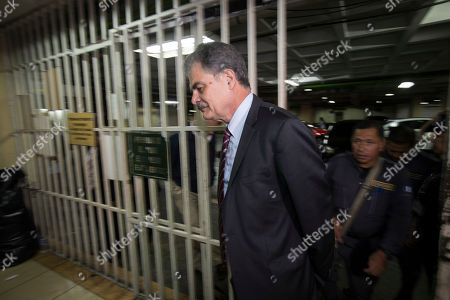 Juan Alberto Fuentes, former Guatemalan Minister of Finance and former chair of the NGO Oxfam International arrives at a courthouse in Guatemala City, . Fuentes along with former President Alvaro Colom is involved in a fraud and embezzlement case against him and nearly Colom's entire former cabinet