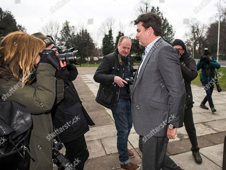 Dominic Chappell Former BHS owner arrives at Barkingside Magistrates' Court in Ilford