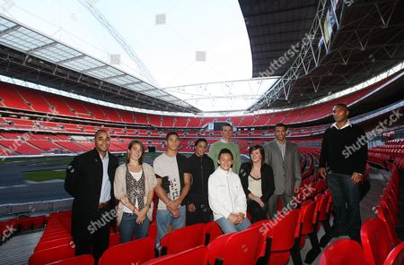 The Daily Mails Magnificent 7 Olympic Hopefuls Tom Daley Jr Badrick Rachael Latham Emile Pidgeon Shanaze Reade Gilkes Scott And Louis Smith With Olympic Gold Medalist Jason Gardener And Rugby Player Jason Robinson At Wembley