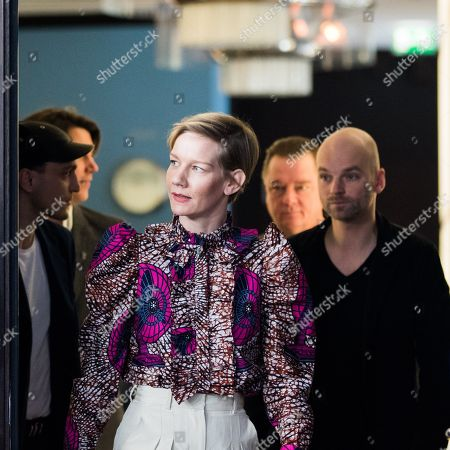 Stock Image of Sandra Huller, Franz Rogowski, Peter Kurth and Thomas Stuber