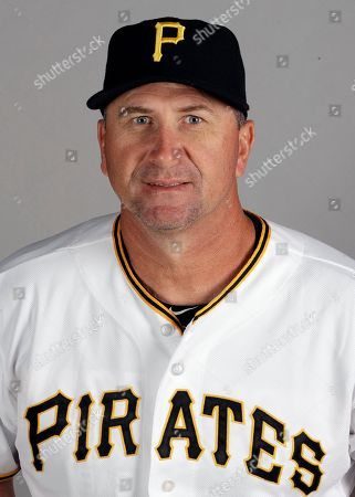 Stock Photo of Pittsburgh Pirates hitting coach Jeff Branson is shown during the team's photo day in Bradenton, Fla. This photo represents the active roster as of Feb. 21, 2018