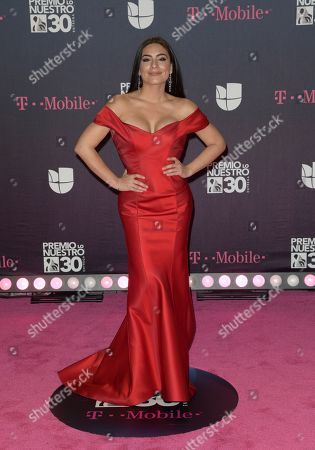 Ana Brenda Contreras arrives at Premio Lo Nuestro Latin Music Awards,