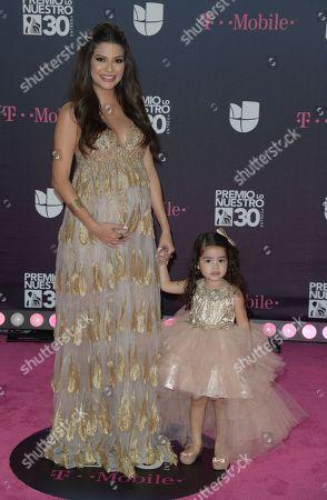 Ana Patricia Gamez and daughter Giulietta Martinez arrives