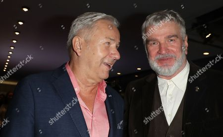 Former mayor of Berlin, Klaus Wowereit (L) and former Head of Panorama section of Berlin Film Festival, Wieland Speck, attend the reception of the 32nd Teddy Award Ceremony during the 68th annual Berlin International Film Festival (Berlinale), in Berlin, Germany, Germany, 23 February 2018. The Berlinale runs from 15 to 25 February.