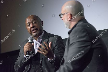 Director Raoul Peck and film critic Joe Neumaier