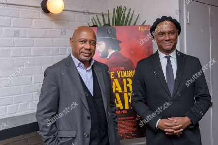 Director Raoul Peck and brother Herb Peck (r), producer