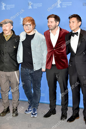 Ed Sheeran and cousin Murray Cummings with cast