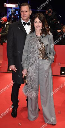 Iris Berben and Heiko Kiesow (R) arrive for the Closing and Awards Ceremony of the 68th annual Berlin International Film Festival (Berlinale), in Berlin, Germany, 24 February 2018. The Berlinale runs from 15 to 25 February.