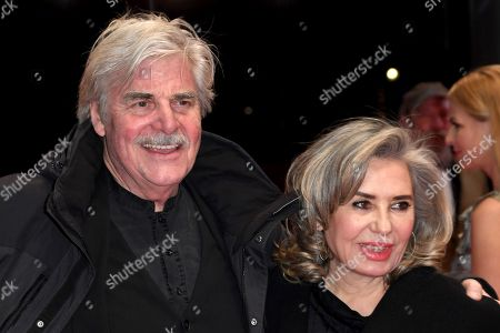 Austrian actor Peter Simonischek (L) and his wife Brigitte Karner arrive for the Closing and Awards Ceremony of the 68th annual Berlin International Film Festival (Berlinale), in Berlin, Germany, 24 February 2018. The Berlinale runs from 15 to 25 February.