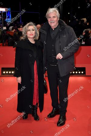 Austrian actor Peter Simonischek (R) and his wife Brigitte Karner arrive for the Closing and Awards Ceremony of the 68th annual Berlin International Film Festival (Berlinale), in Berlin, Germany, 24 February 2018. The Berlinale runs from 15 to 25 February.