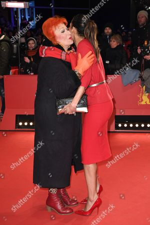 Zazie de Paris (L) and Annabelle Mandeng arrive for the Closing and Awards Ceremony of the 68th annual Berlin International Film Festival (Berlinale), in Berlin, Germany, 24 February 2018. The Berlinale runs from 15 to 25 February.