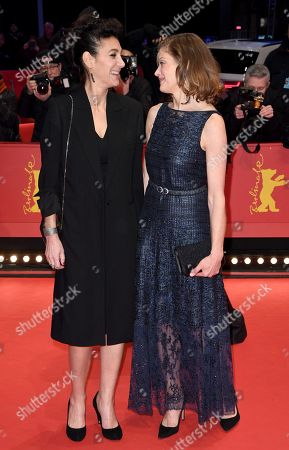 German-French-Iranian director Emily Atef (L) and German actress Marie Baeumer arrive for the Closing and Awards Ceremony of the 68th annual Berlin International Film Festival (Berlinale), in Berlin, Germany, 24 February 2018. The Berlinale runs from 15 to 25 February.