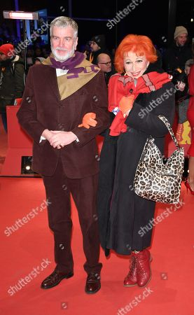 Stock Image of Wieland Speck (L) and Zazie de Paris arrive for the Closing and Awards Ceremony of the 68th annual Berlin International Film Festival (Berlinale), in Berlin, Germany, 24 February 2018. The Berlinale runs from 15 to 25 February.
