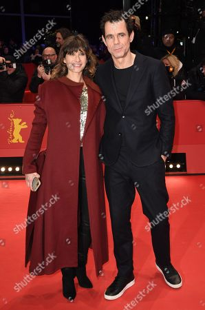 Jury President Tom Tykwer (R) and his wife Marie Steinmann (L)  arrive for the Closing and Awards Ceremony of the 68th annual Berlin International Film Festival (Berlinale), in Berlin, Germany, 24 February 2018. The Berlinale runs from 15 to 25 February.