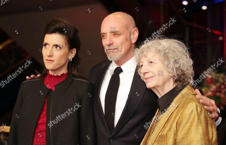 Stock Picture of (L-R) Glashuette Documentary Award Jury members Cintia Gil, Eric Schlosser and Ulrike Ottinger arrive for the Closing and Awards Ceremony of the 68th annual Berlin International Film Festival (Berlinale), in Berlin, Germany, 24 February 2018. The Berlinale runs from 15 to 25 February.