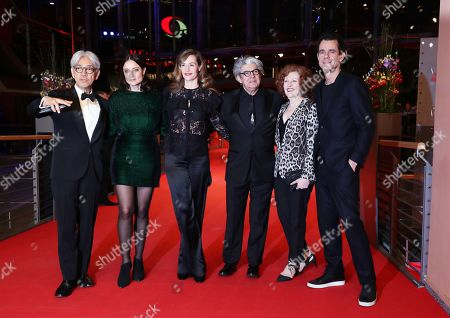 (L-R) Jury members: Japanese musician, composer Ryuichi Sakamoto, US producer Adele Romanski, Belgian actress Cecile de France, Spanish director Chema Prado, US film critic Stephanie Zacharek and German director and president of the jury Tom Tykwer arrive for the Closing and Awards Ceremony of the 68th annual Berlin International Film Festival (Berlinale), in Berlin, Germany, 24 February 2018. The Berlinale runs from 15 to 25 February.