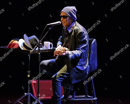 Editorial picture of Sixto Diaz Rodriguez in concert at Parker Playhouse, Fort Lauderdale,  USA - 23 Feb 2018