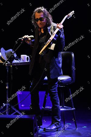 Editorial photo of Sixto Diaz Rodriguez in concert at Parker Playhouse, Fort Lauderdale,  USA - 23 Feb 2018