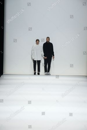 Lucie Meier and Luke Meier on the catwalk