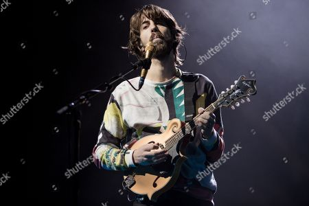 Editorial image of Imagine Dragons in concert at the Genting Arena, Birmingham, UK - 24 Feb 2018