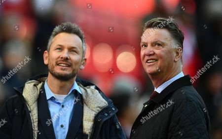 Former Manchester United manager Louis Van Gaal working for television