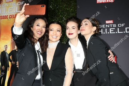 Stock Picture of Maurissa Tancharoen, Ming-Na Wen, Elizabeth Henstridge, Natalia Cordova-Buckley