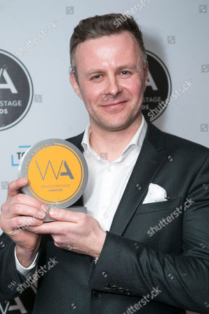 Tom Lister accepts the award for Best Musical Revival for 42nd Street