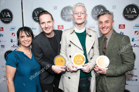 Nica Burns, Dan Gillespie Sells, John McCrea and Jonathan Butterell three awards for Everybody's Talking About Jamie
