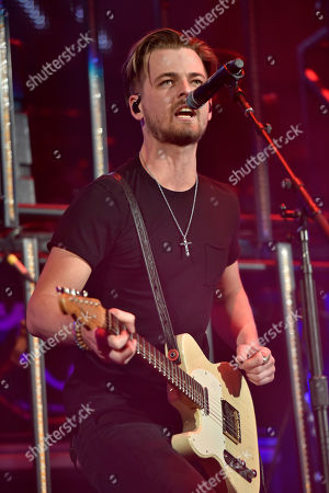 Stock Image of Chase Bryant performs an opening act during the Weekend Worrior World Tour at the Allstate Arena, in Rosemont, IL
