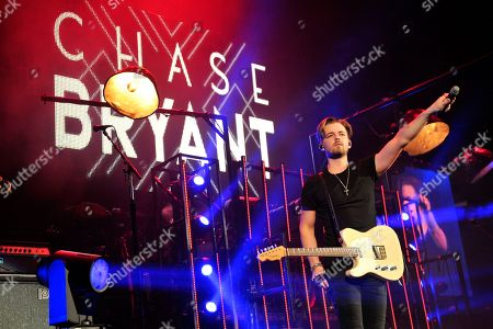 Stock Picture of Chase Bryant performs an opening act during the Weekend Worrior World Tour at the Allstate Arena, in Rosemont, IL
