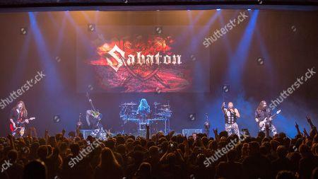 Sabaton - Tommy Johansson, Par Sundstrom, Hannes van Dahl, Joakim Broden and Chris Rorland