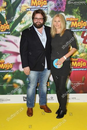 Stock Image of Antoine Monot Jr. mit Ehefrau Stefanie Sick,