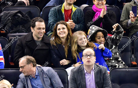 Matthew Rhys, Keri Russell, River Russell and Guest
