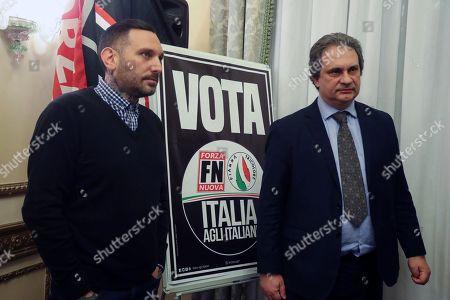 Palermo, rally of Roberto Fiore and Massimiliano Ursino of Forza Nuova