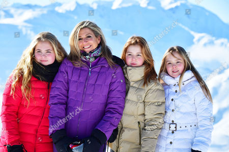 Queen Maxima with daughters Crown Princess Amalia, Princess Alexia, Princess Ariane
