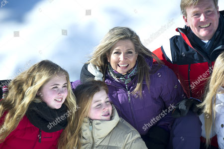 King Willem Alexander, Queen Maxima with daughters Crown Princess Amalia, Princess Alexia