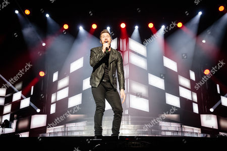 Stock Photo of Matt Linnen performs during The X-Factor Tour 2018 at the Genting Arena