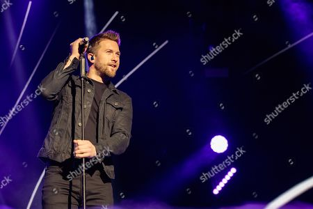 Stock Picture of Matt Linnen performs during The X-Factor Tour 2018 at the Genting Arena