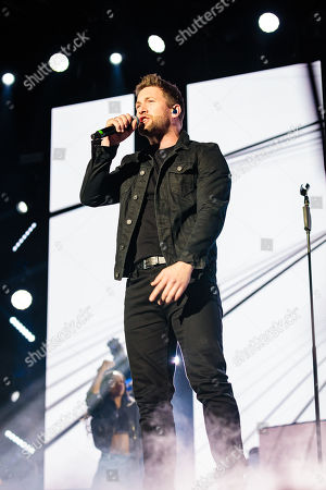 Matt Linnen performs during The X-Factor Tour 2018 at the Genting Arena
