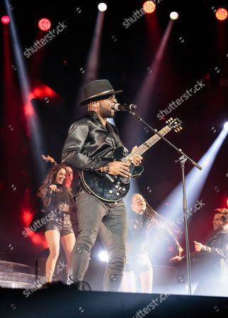 Kevin Davy White performs during The X-Factor Tour 2018 at the Genting Arena