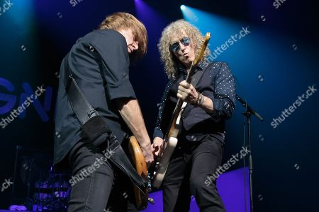 Stock Picture of Musicians Jeff Pilson and Bruce Watson of Foreigner