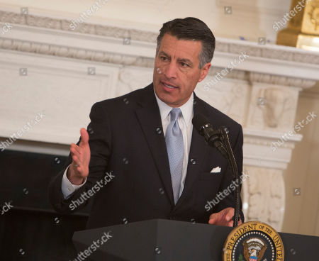 Nevada Governor Brian Sandoval speaks during the 2018 White House Business Session with Governors