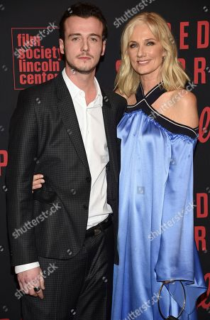 """Micheal Richardson, Joely Richardson. Joely Richardson, right and nephew Micheal Richardson attend the premiere of """"Red Sparrow"""" at Alice Tully Hall, in New York"""