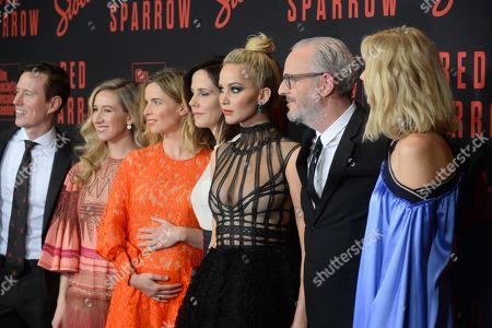 Isabella Boylston, Thelka Reuten, Mary-Louise Parker, Jennifer Lawrence, Francis Lawrence and Joely Richardson